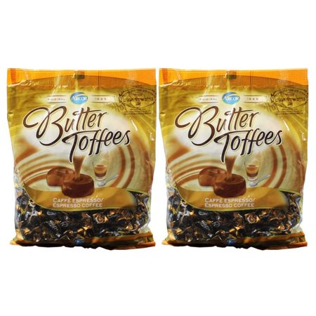 Arcor Cafe Coffee Butter Toffee Individual Wrapped Kosher Candy - Pack of