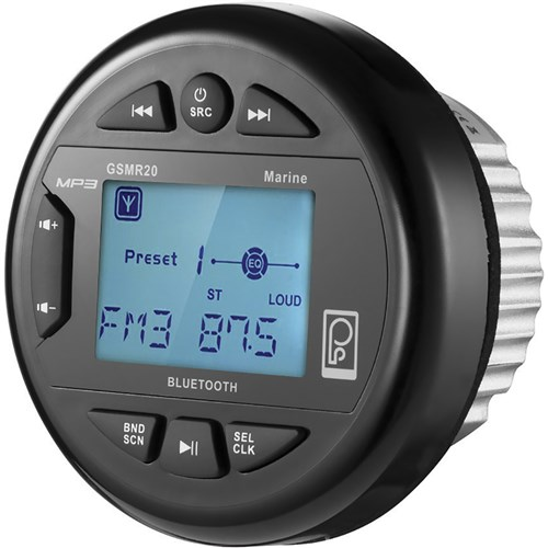 PolyPlanar AM/FM Bluetooth Gauge Series Marine Radio Poly-Planar GSMR20 AM/FM Bluetooth Gauge Series Marine Radio