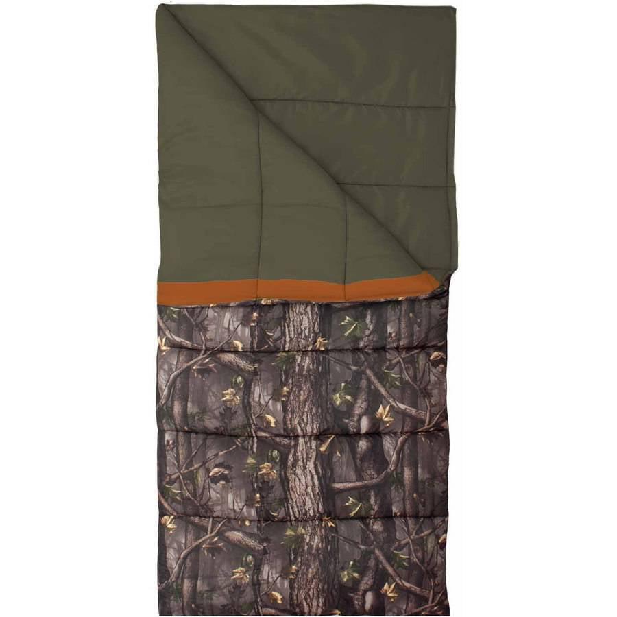 Exxel Outdoors Outdoorsman 20-30 Degrees Sleeping Bag, Camo by