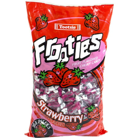 Tootsie Frooties Strawberry Fruit Flavored Chewy Candy  360 Count