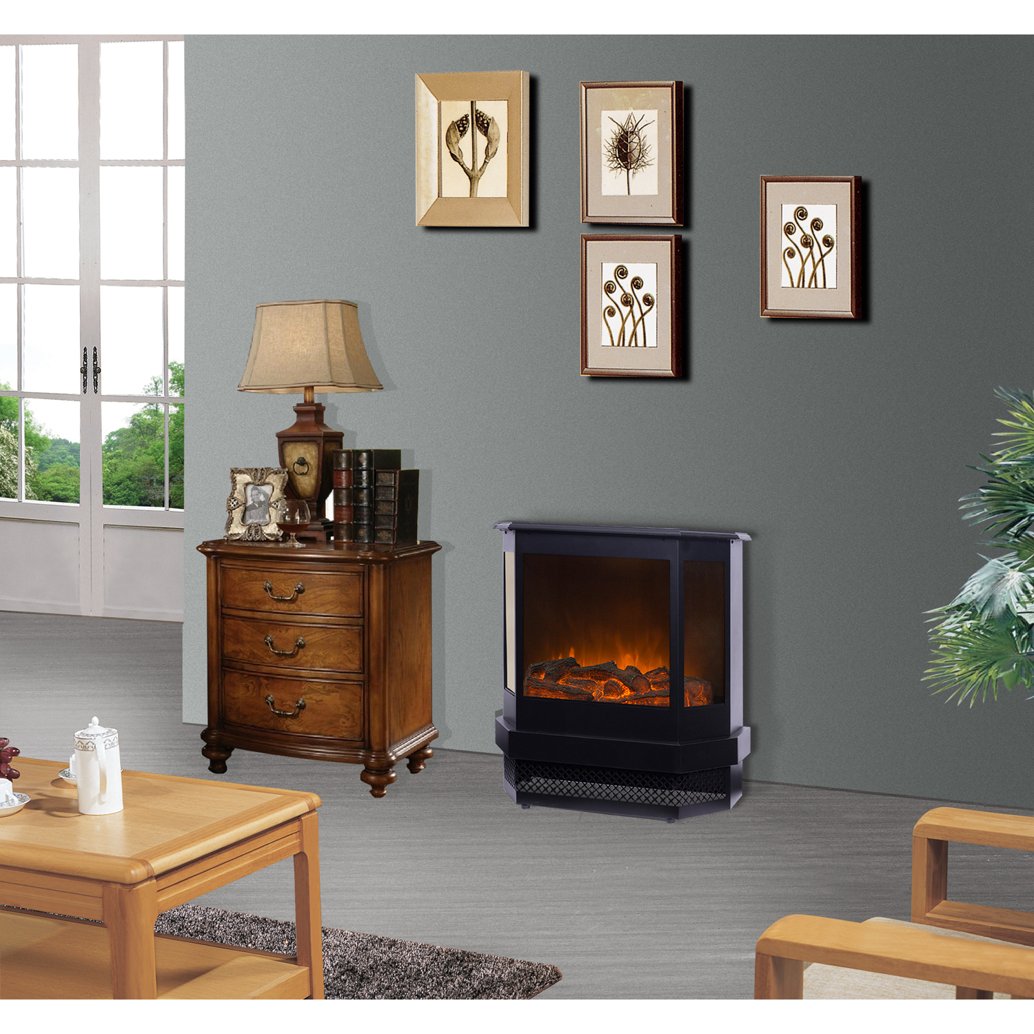 Details About Decor Flame Electric Stove Heater Home Improvement Heating Cooling Living Room