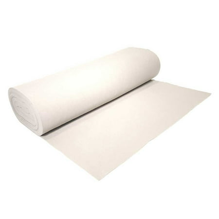 "High Quality Acrylic Felt by the Yard 72"" Wide X 1 YD Long: White"