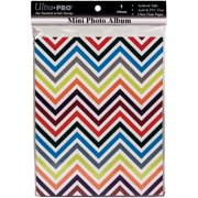 Ultra PRO 58205-R Mini Photo Album, 4 by 6-Inch, Chevron Rainbow Multi-Colored