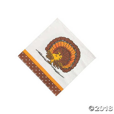 Peanuts? Thanksgiving Beverage Napkins - Peanuts Thanksgiving