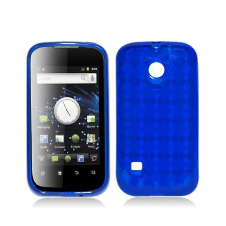 Blue with Crystal Plaid Pattern TPU Case Cover for Huawei Ascend 2
