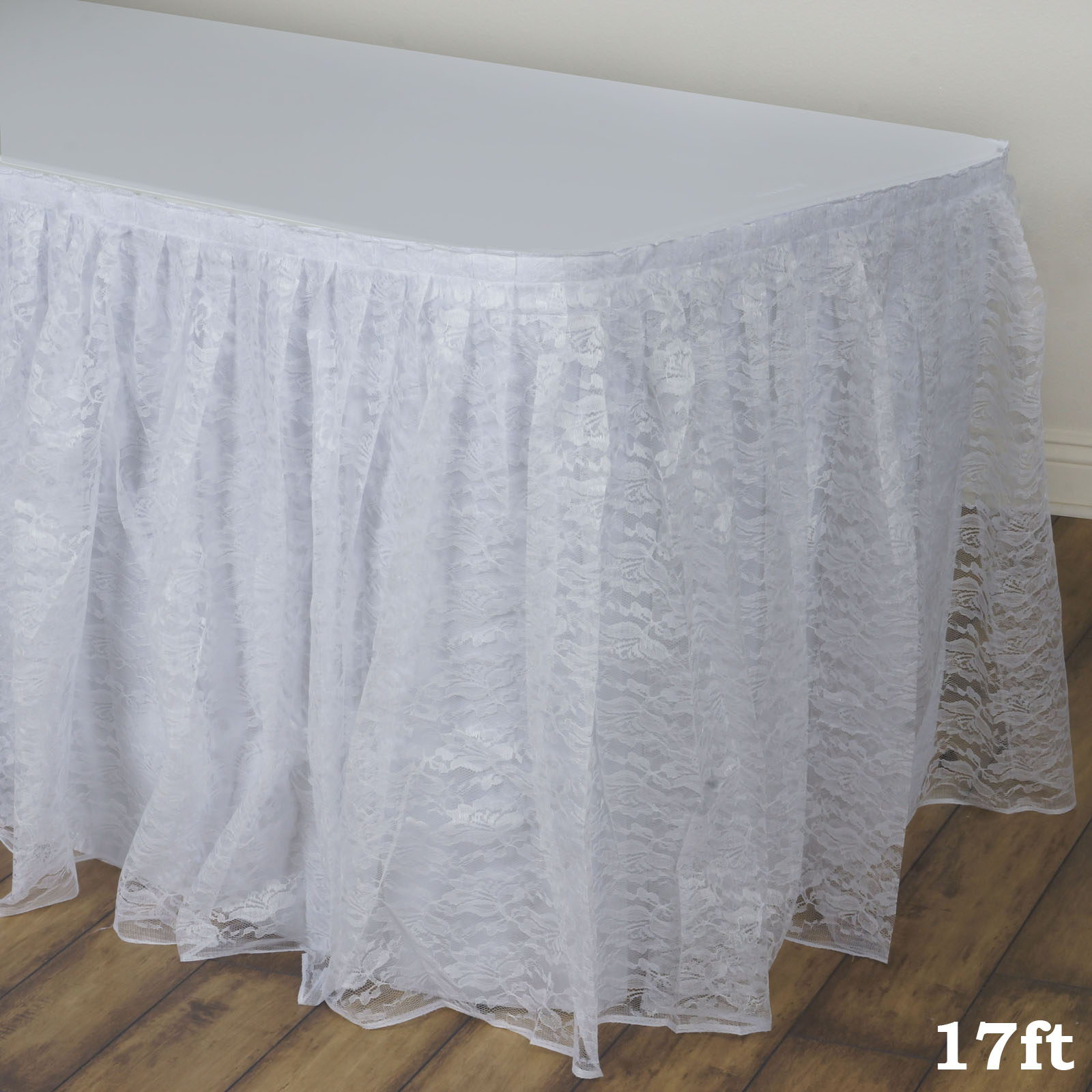BalsaCircle Lace Banquet Table Skirt - Wedding Party Trade Show Booth Events Linens Decorations
