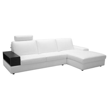 Baxton studio headrick leather modern sectional sofa for Baxton studio sectional sofa grey