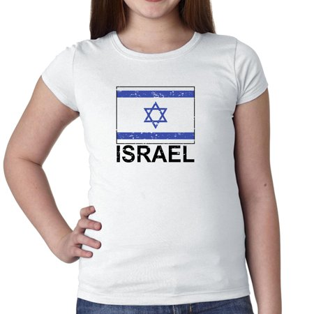Israel Flag T-shirt - Israel Flag - Special Vintage Edition Girl's Cotton Youth T-Shirt