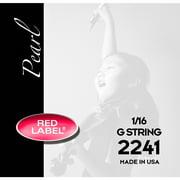 Super Sensitive Red Label Pearl Nylon Core Violin G String 1/16 Size