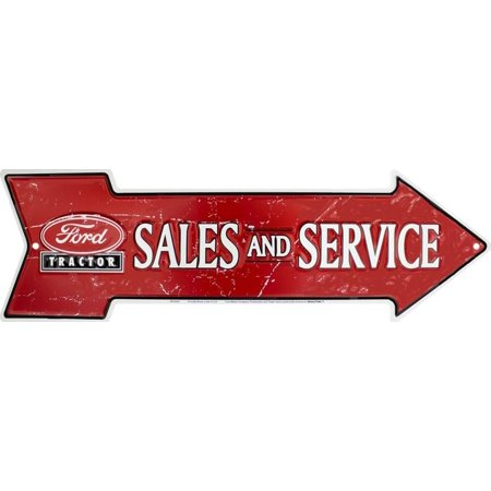 Ford Tractor Sales Tin Sign - 20x6