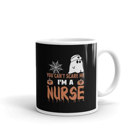 Cofee Tea Or Me (You Can't Scare Me I'm A Nurse Coffee Tea Ceramic Mug Office Work Cup)