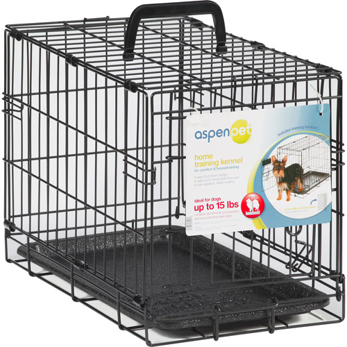"Aspen Pet Wire Home Training Dog Kennel, 19""W x 11""D x 13""H"