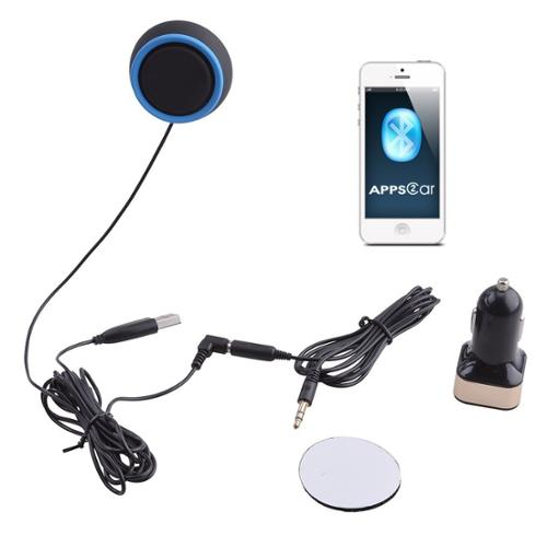 AGPtEK 3.5mm AUX Hands-free Car Kit Bluetooth Receiver Speaker Music Streaming Receiver Adapter for Samsung iPhone