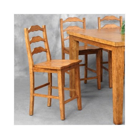 Counter Height Ladder Back Chairs : ... Retreat Ladder Back Counter Height Side Chair (Set of 4) - Walmart.com