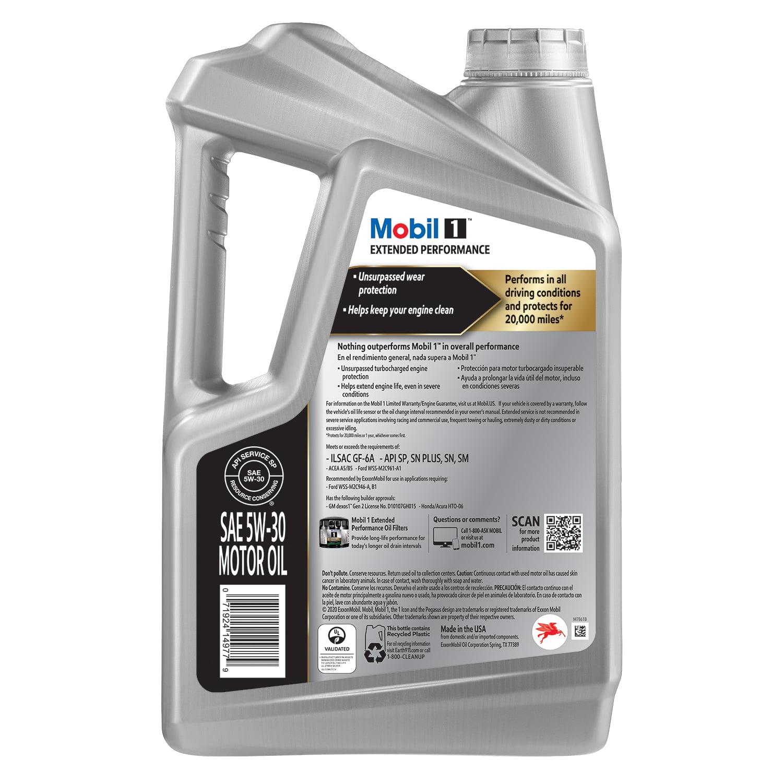 Mobil 1 Extended Performance Full Synthetic Motor Oil 5w 30 5 Quart Walmart Com Walmart Com