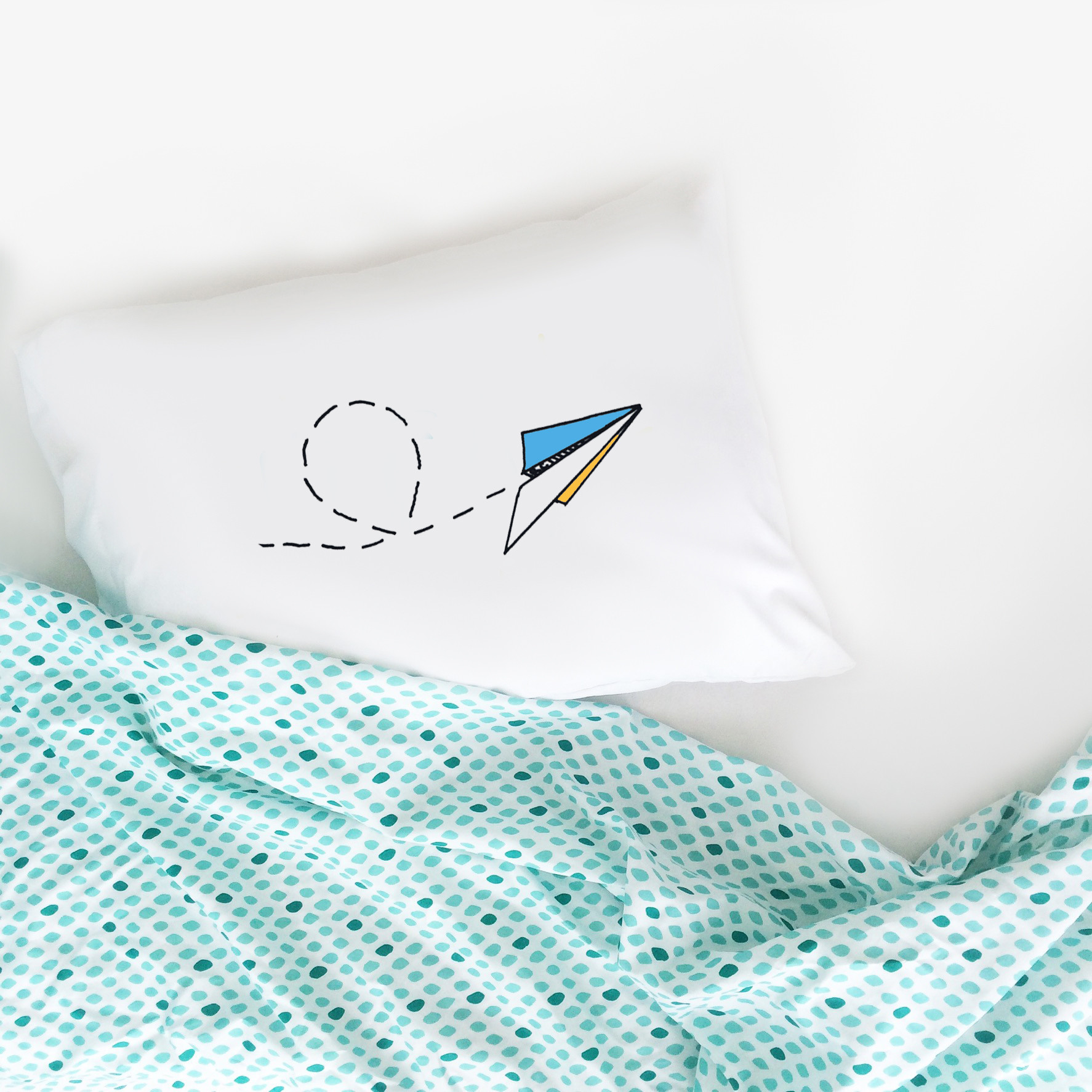 Oh, Susannah Paper Airplane Pillowcase 20x30""