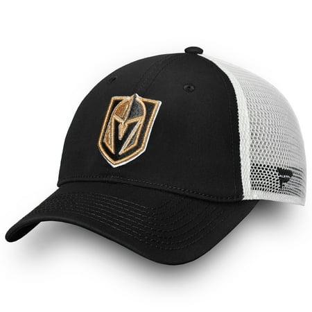 eb0bc32fc6a Vegas Golden Knights Fanatics Branded Core Trucker II Snapback Adjustable  Hat - Black - OSFA - Walmart.com