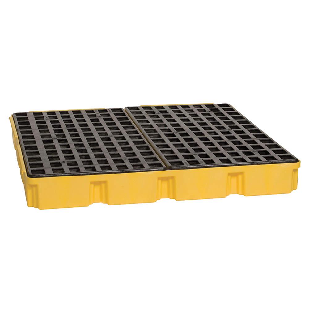 EAGLE Spill Platform, w/o Drain, 60.5 gal, 4 Drum 1635
