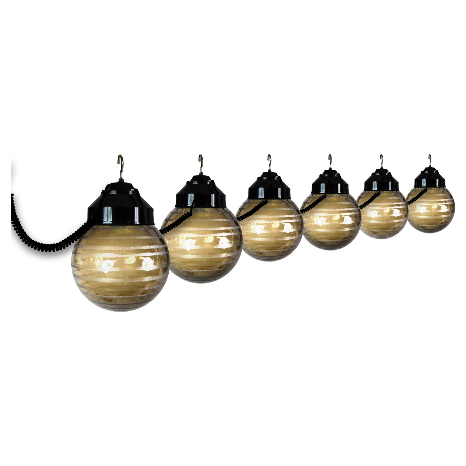 Polymer Products LLC Six Globe String Light Set - Black / Bronze