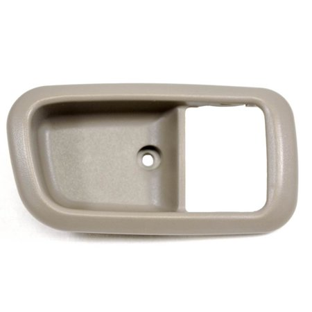 - PT Auto Warehouse TO-2950G-2FR - Inner Interior Inside Door Handle Trim/Bezel, Gray (Charcoal) - Regular/Access Cab, Passenger Side Front
