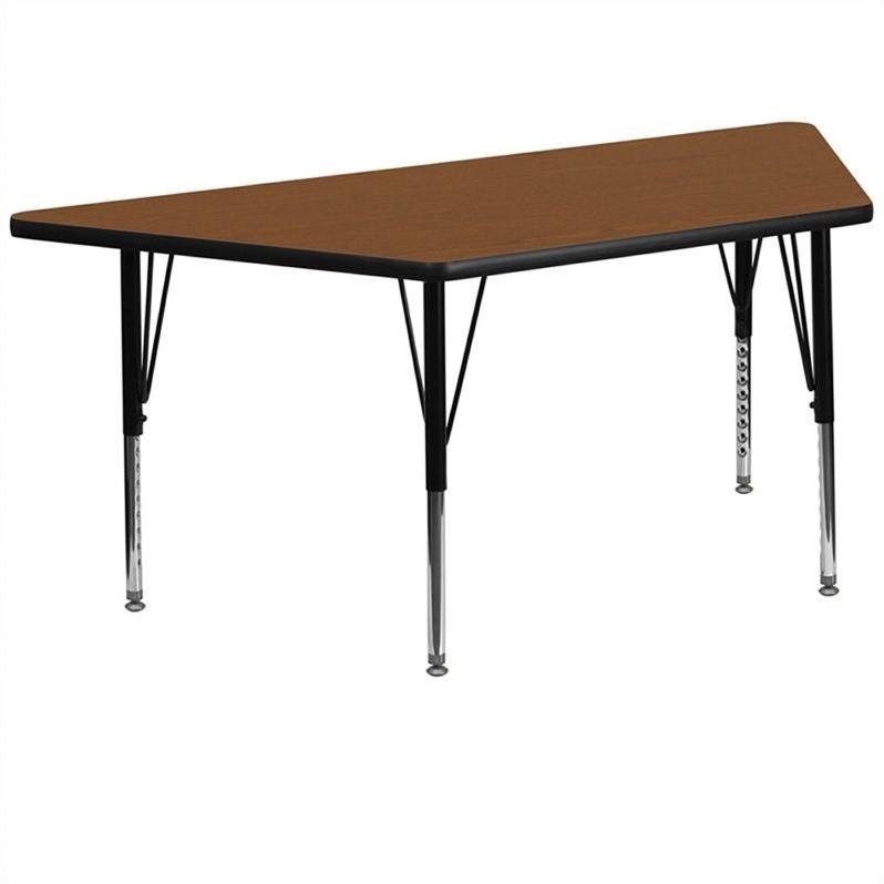 Rosebery Kids Trapezoid Activity Table in Oak - image 1 of 2