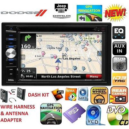 FITS 2009-2012 DODGE RAM TRUCK TOUCHSCREEN CAR RADIO STEREO CD/DVD GPS NAVIGATION SYSTEM BLUETOOTH BT USB AUX.  Supports optional backup camera and steering wheel interface