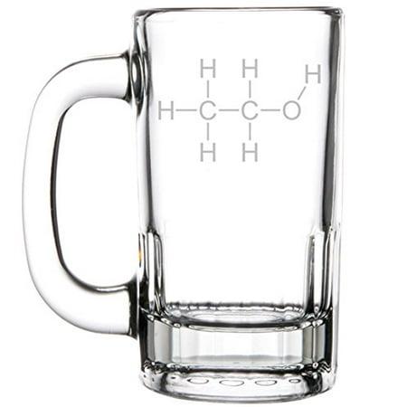 12oz Beer Mug Stein Glass Science Geek Nerd Alcohol (Buy Geek Glasses)