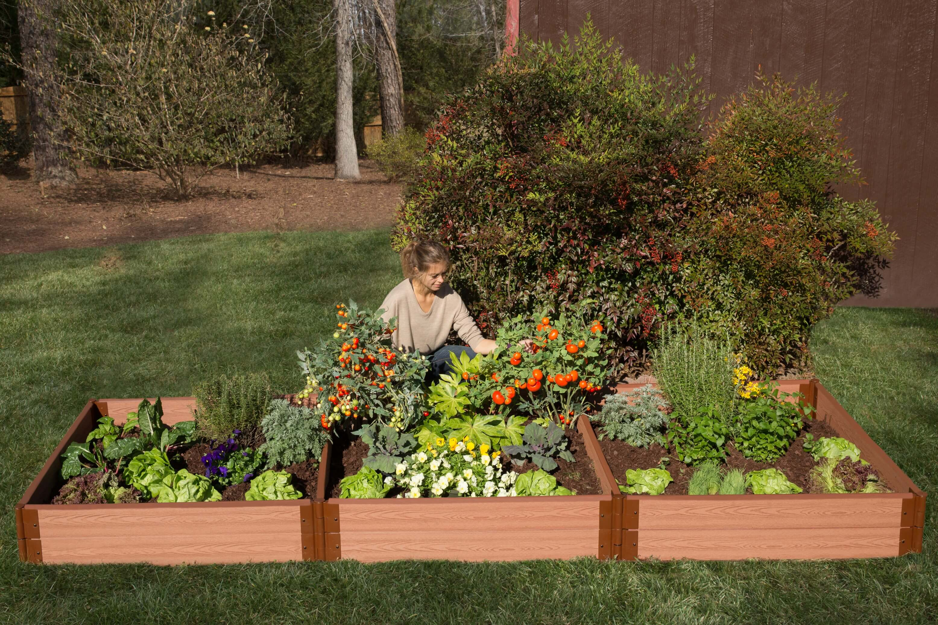 """Frame It All Classic Sienna Raised Garden Bed 4\' x 12\' x 11"""" – 2 ..."""