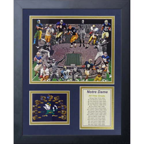Notre Dame Greats Framed Photo Collage, 11x14, by Legends Never Die