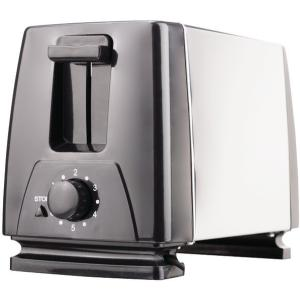 2SLICE TOASTER BLACK W/ S/S