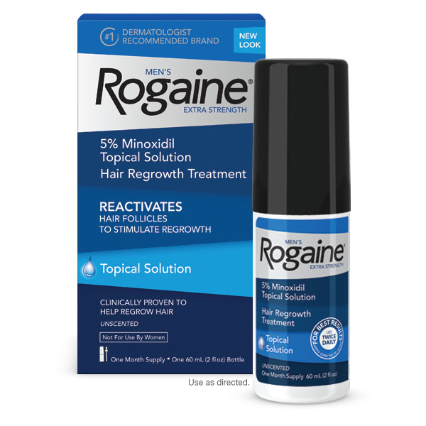 Rogaine Mens Hair Regrowth Treatment Extra Strength Solution One Month Supply Mens Extra Strength Solution