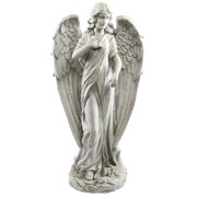Alpine Corporation Outdoor Angel Statue, 31 Inches