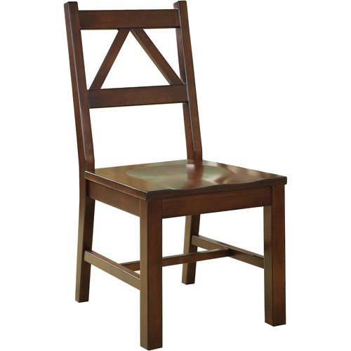 Linon Titian Chair, Antique Tobacco, 17 Inch Seat Height