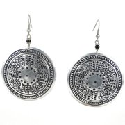 Stamped Recycled Cooking Pot 'Medallion' Earrings (Kenya)