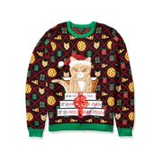Blizzard Bay Men's Ugly Christmas Sweater Cat,, Black/Orange, Size SIZE-S