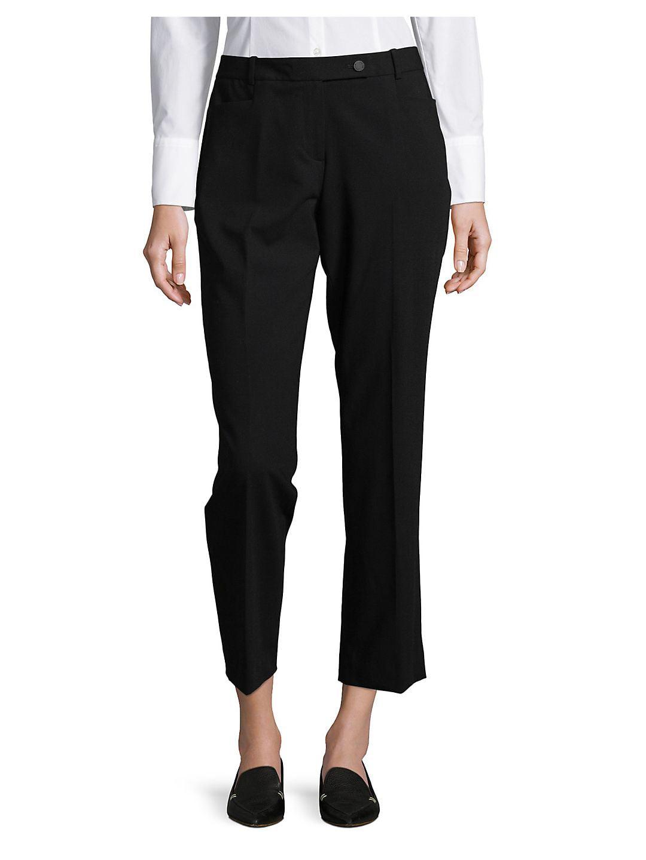 Petite Flat Front Pants
