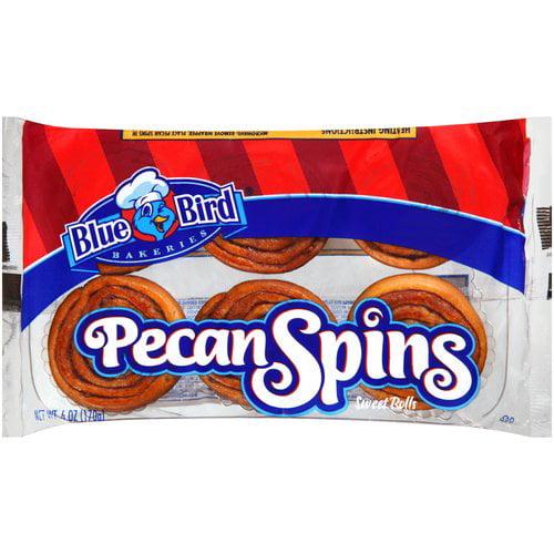 Blue Bird Bakeries Pecan Spins Sweet Rolls, 6 oz