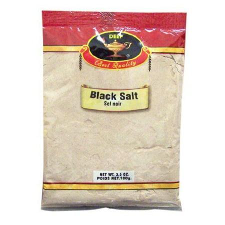 Deep Black Salt, 3.5 Ounce Black Matte Salt Mill