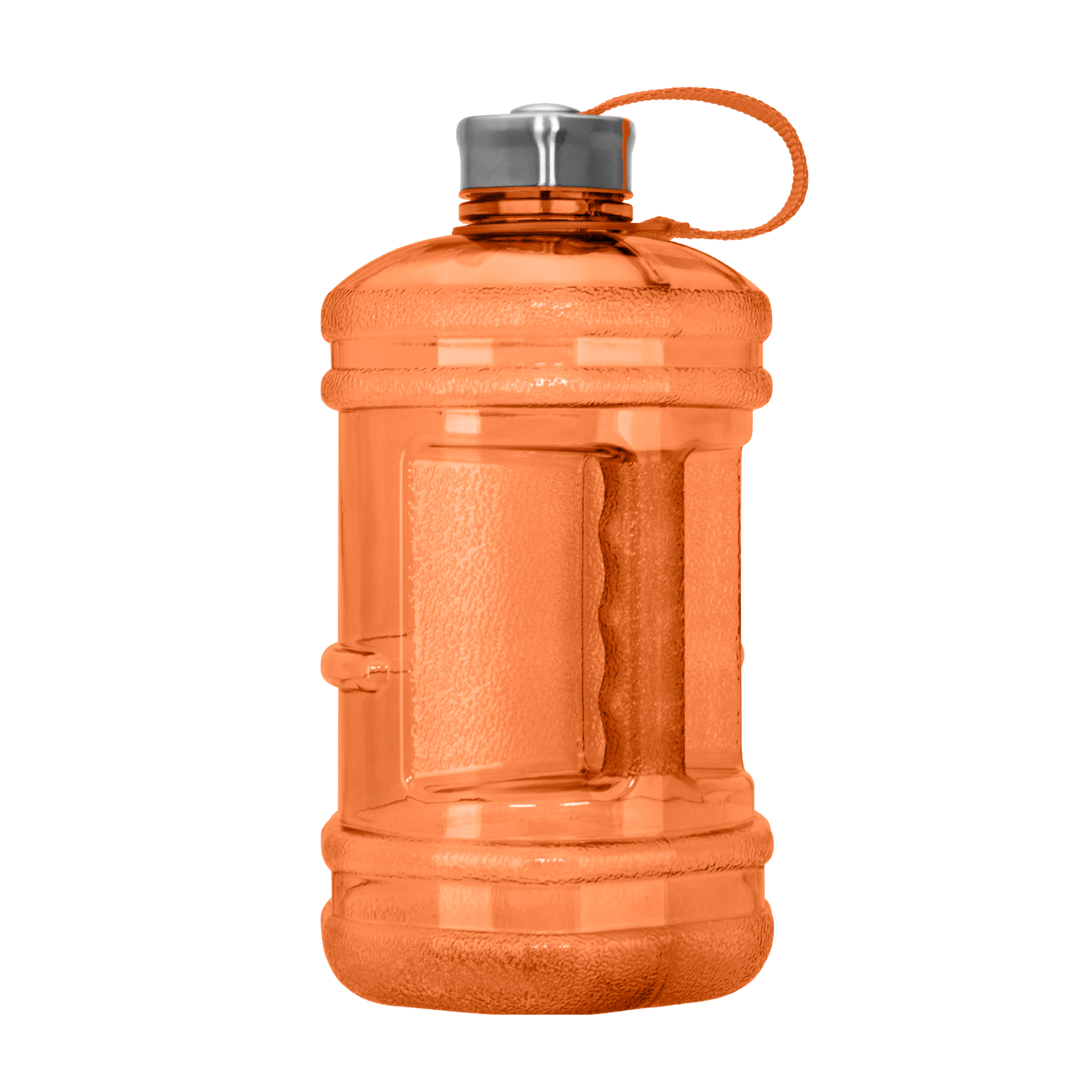 2.3 Liter BPA Free Reusable Plastic Drinking Water Bottle w/ Steel Cap