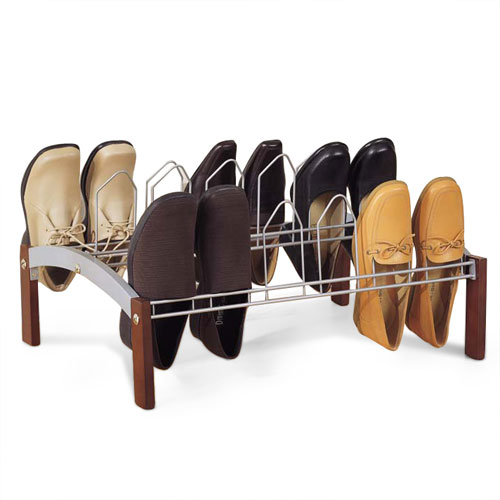 9 Pair Shoe Rack, Espresso by Organize It All, Inc.
