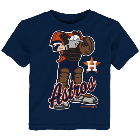 MLB Houston ASTROS TEE Short Sleeve Boys 50% Cotton 50% Poly Team Color 12M-4T