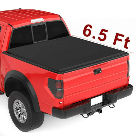 Upgraded Soft Tri-fold Truck Bed Tonneau Cover On Top Compatible for 2015 2016 2017 2018 2019 Ford F-150 F150 with 6.5ft Bed |