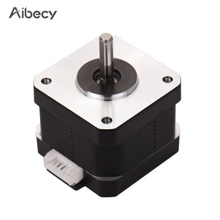 Aibecy 3D Printer Parts 42-34 Stepper Motor 2 Phase 1.8 Degree Step Angle 0.4N.M 0.8A Step Motor for Creality CR-10 CR-10S Ender 3 3D Printer - image 1 de 7