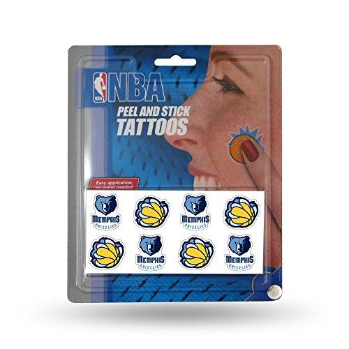 NBA Memphis Grizzlies Face Tattoos, 8-piece Set