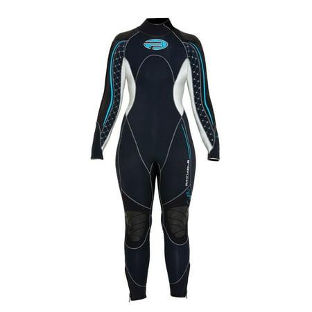 Pinnacle Siren 7mm Full Scuba Diving Wetsuit Women's Black Merino