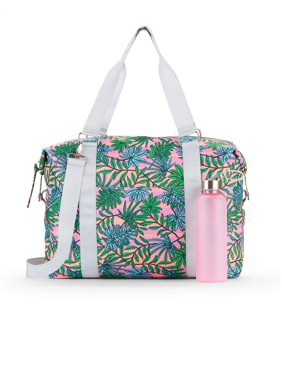 f9aa7e2110 Product Image No Boundaries Coral Palm Leaf Gym Bag with Waterbottle