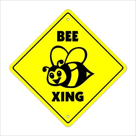 Bee Crossing Sign Zone Xing | Indoor/Outdoor | 14
