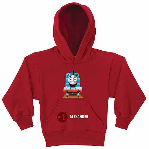 Personalized Thomas and Friends No. 1 Boys' Red Hoodie