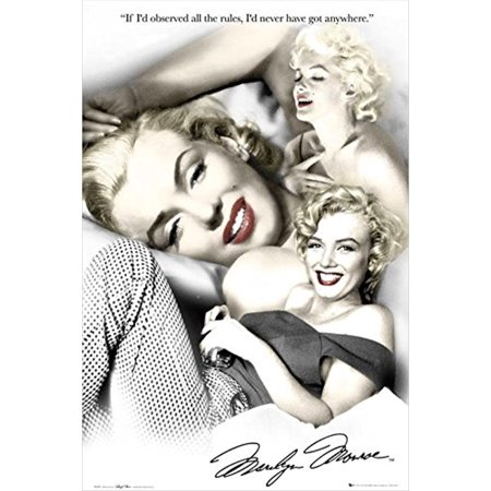Marilyn Monroe Rules of Life with Quotes 36x24 Movie Art Print Poster Hollywood Icon Star (Mongo Just Pawn In Game Of Life Quote)
