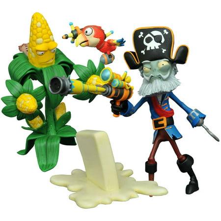 Diamond Select Toys Plants Vs Zombies Garden Warfare 2 Kernel Corn Captain Deadbeard Action Figure